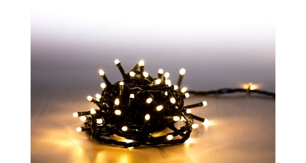 Svetelná reťaz 100 LED- teplá biela - 8 funkcií
