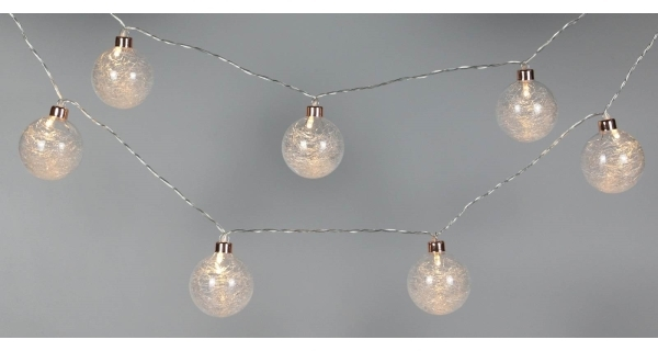 Svetelná reťaz 8 LED - teplá biela