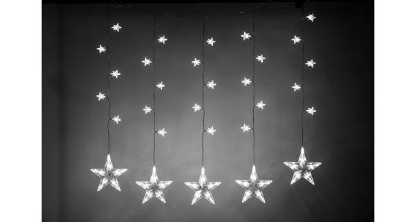 Svetelný záves s hviezdami 100 LED