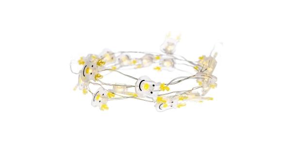 Svietiaca struna sob 20 LED - teplá biela