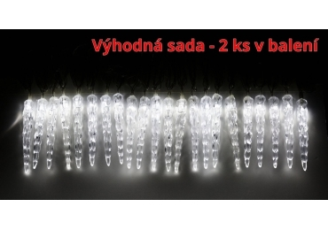 Svietiace mini cencúle 40 LED - sada 2 ks