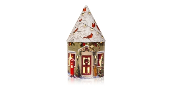 Svietiaci vianočný domček 5 LED