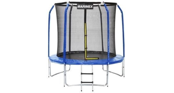 Trampolína Marimex 244 cm + ochranná sieť + schodíky ZADARMO