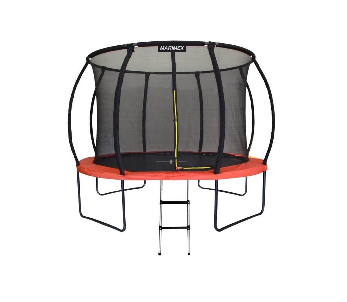 Trampolína Marimex PREMIUM 396 cm + vnútorná ochranná sieť + schodíky ZADARMO