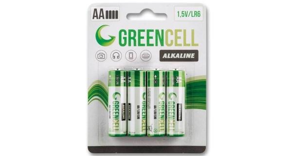 Tužkové batérie  GreenCell AA - 4 ks