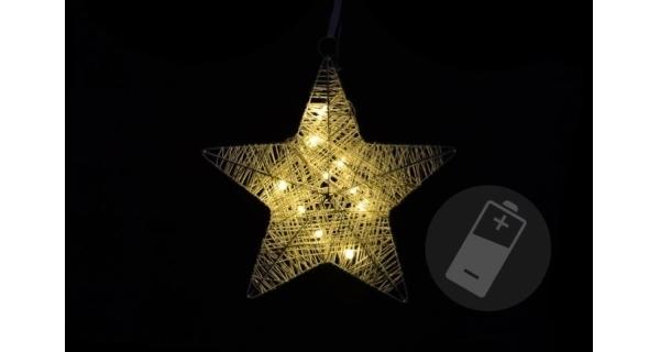 Vianočná hviezda 10 LED