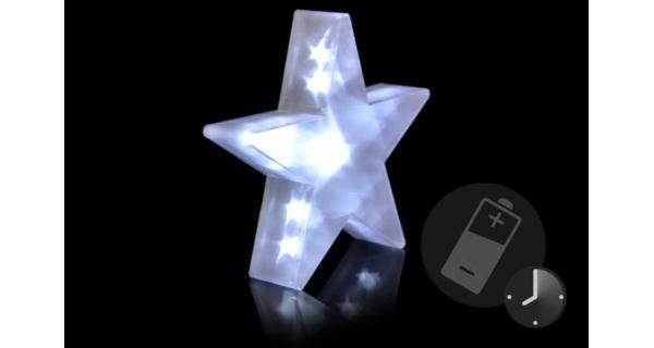 Vianočná hviezda 20 LED - studená biela