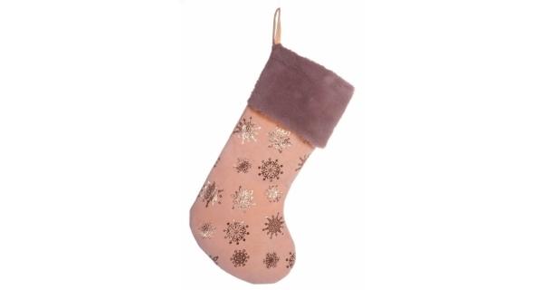 Vianočná ponožka - ružová