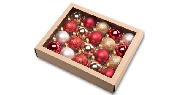 Vianočné gule 4,5 cm - tradičný set