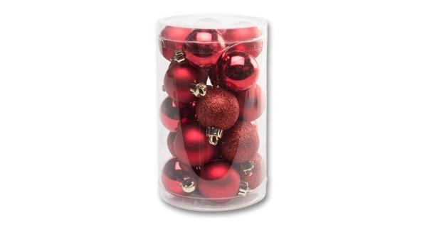 Vianočné gule 4 cm - červená