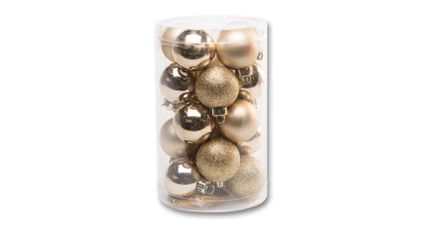 Vianočné gule 4 cm - zlatá