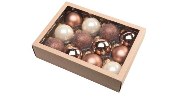 Vianočné gule 6,5 cm - severský set