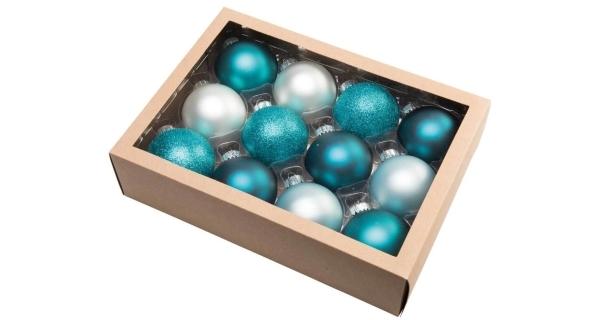 Vianočné gule 6,5 cm - zimný set