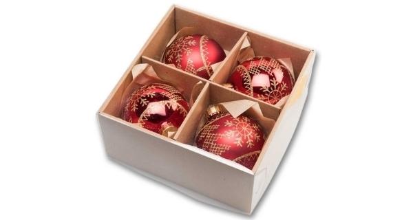 Vianočné gule 8 cm - tradičný set