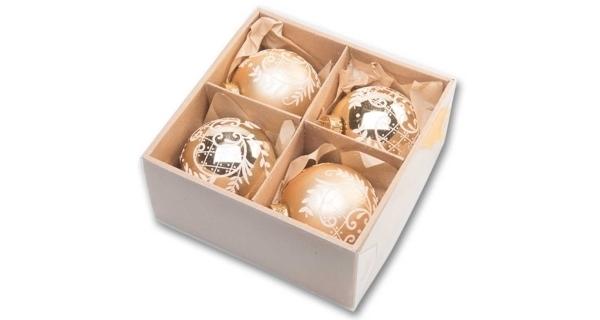 Vianočné gule 8 cm - zlatý set
