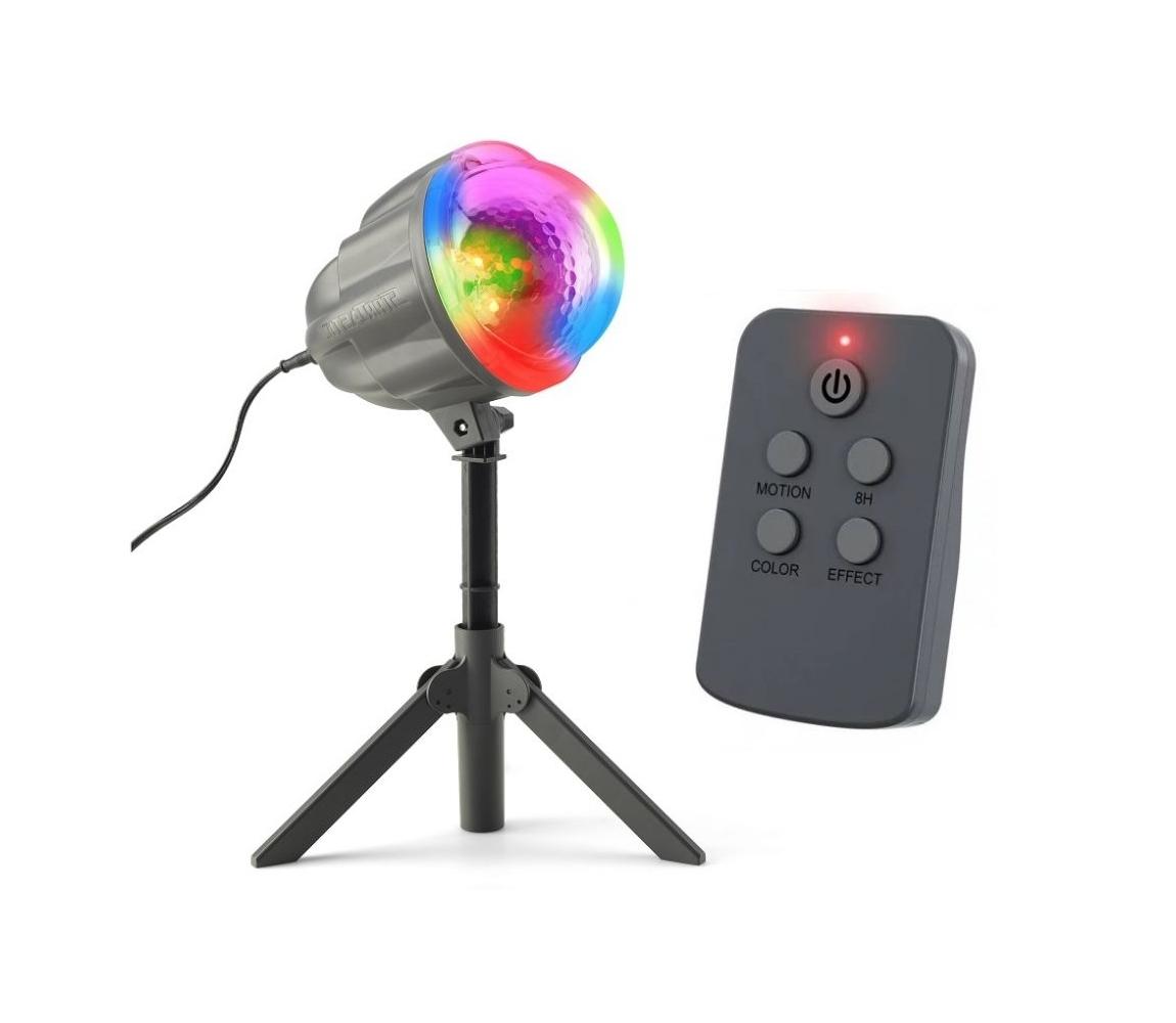 Vianočný laserový projektor - 4 farby, 122 efektov, 132 m2