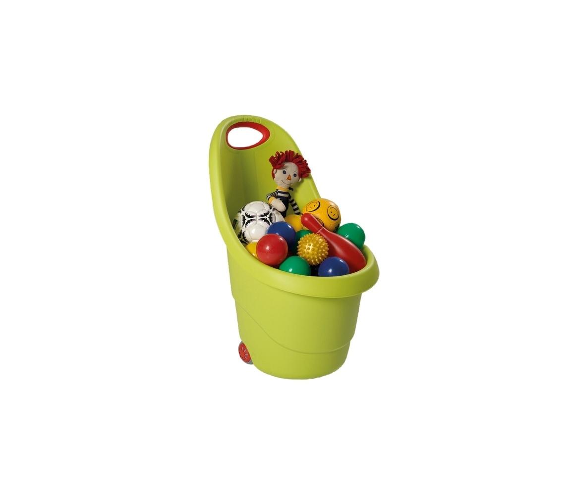 Vozík plastový - zelený