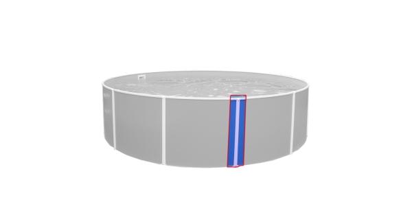 Zvislá kovová lišta Orlando 0,91 m